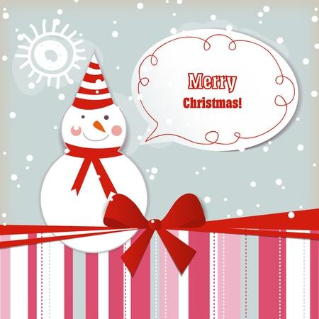 Christmas gift card Stock Vector - 11377061