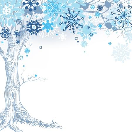 silhouette arbre hiver: L'arbre d'hiver