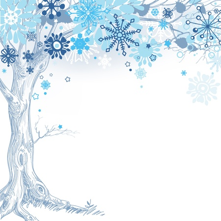 winter garden: Winter tree Illustration