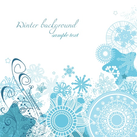 Vector winter background  Vector
