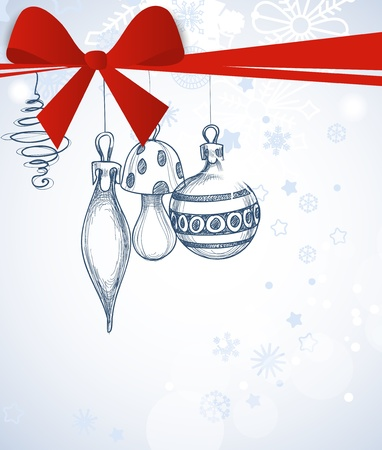 Christmas ornaments gift card Stock Vector - 11377060