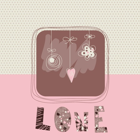 Love card vector Vector