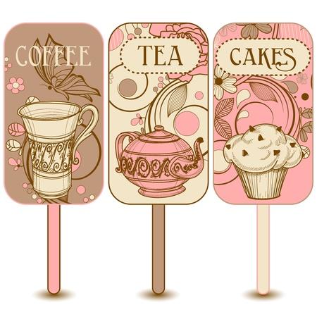 cupcake: �tiquettes Caf�, th� et g�teaux