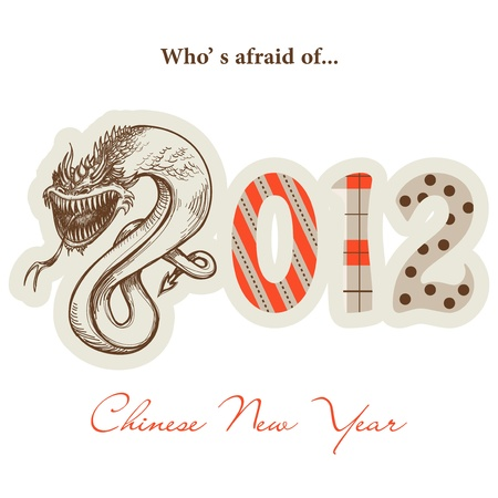 Chinese New Year, Year of the dragon 2012 Vector