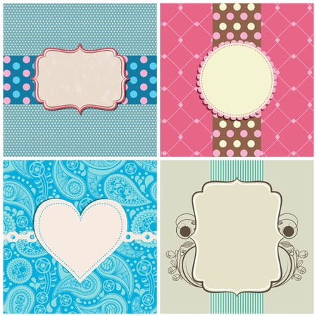 Retro greeting cards set Stock Vector - 11890263