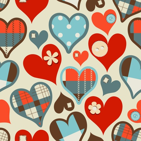 fabric swatch: Hearts seamless pattern Illustration