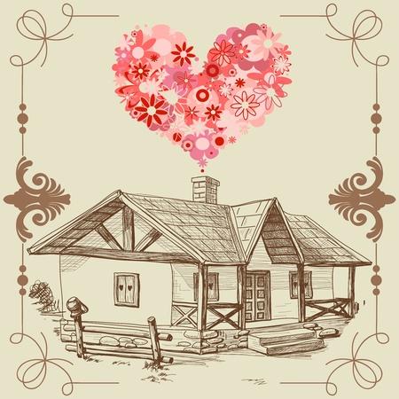 roof line: Casa del amor, el concepto de familia feliz