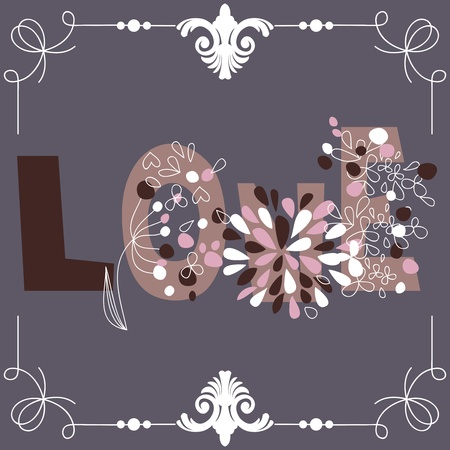 Decorative love word Stock Vector - 11890245