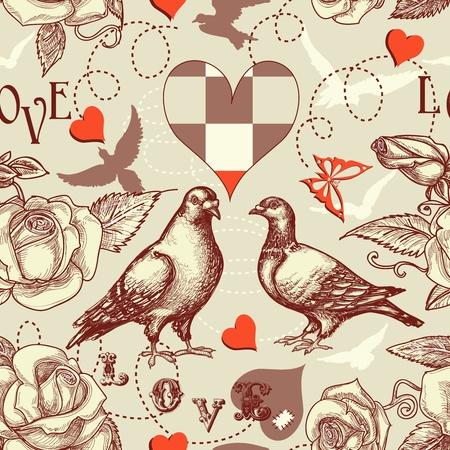Pájaros del amor sin patrón