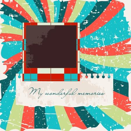 grunge photo frame: Album modello di layout con cornice Vettoriali