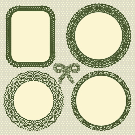 Retro lace frames set Vector