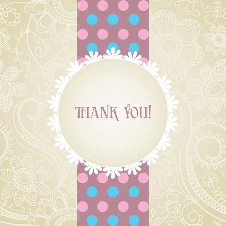 White lace frame greeting card Vector