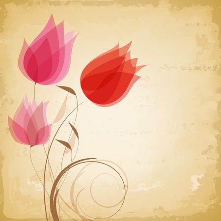 gentle: Vintage vector flowers