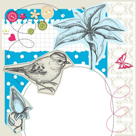 whimsy: Scrapbook elements with space for text Illustration
