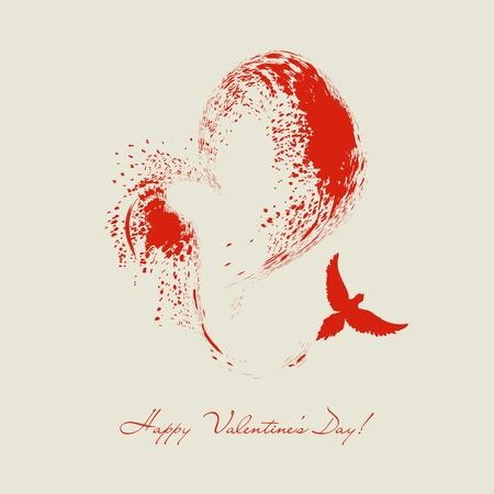 Bird létání tvaru srdce Reklamní fotografie - 12145851