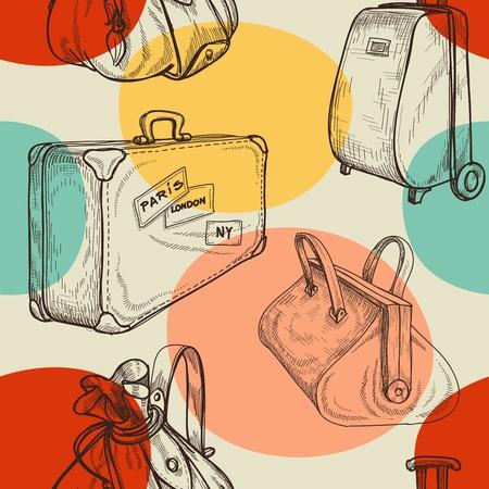 voyage: Bolsas de viaje sin patr�n Vectores