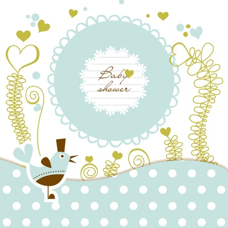 Cute baby shower Stock Vector - 12440329