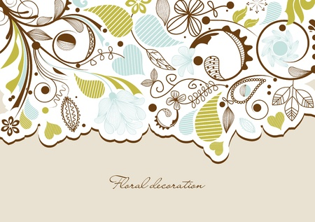 flores: Floral background