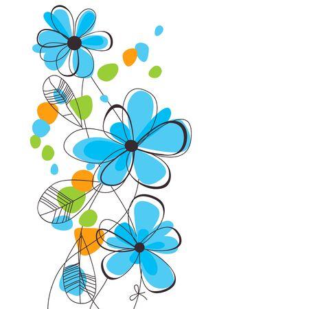 primavera: Flores de primavera de fondo Vectores