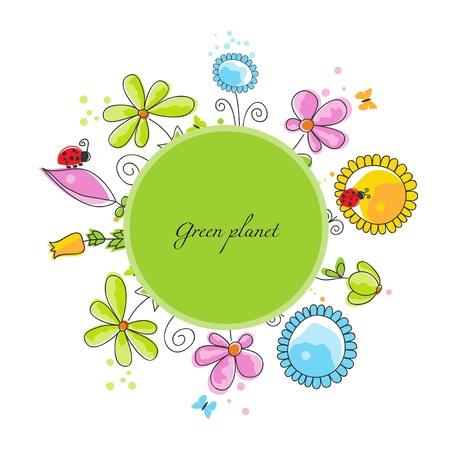 green planet: Floral frame, le concept plan�te verte