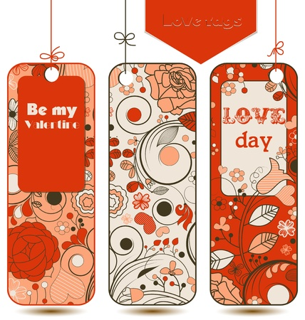 clothing tag: Love tags set Illustration