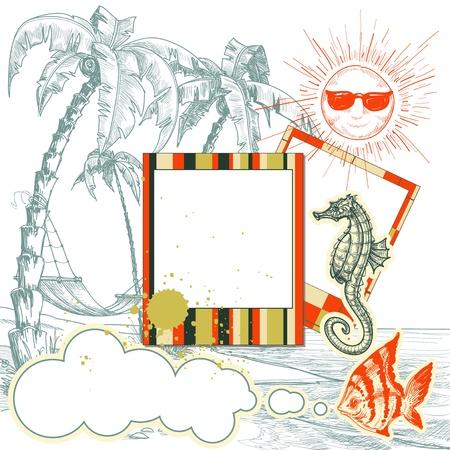 palmtrees: Sea holiday layout