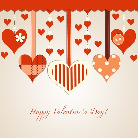 Valentine's day card Stock Vector - 12440325