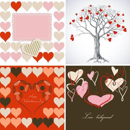 baby arrival: Love greeting card set Illustration