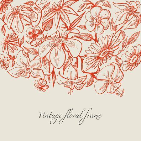 Vintage floral background Stock Vector - 12440338