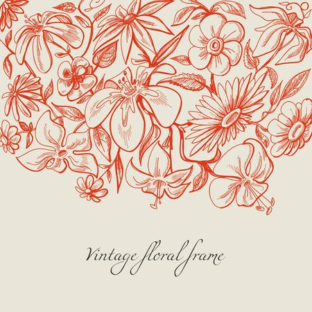 taper: Vintage floral background