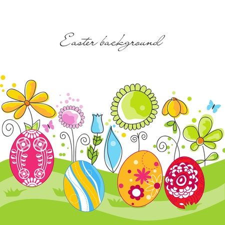 egg plant: Easter background Illustration
