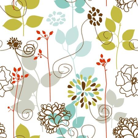 Frühling Pflanzen nahtlose Muster