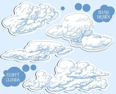 cloud clipart: Clouds set