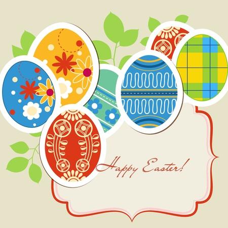 cartoon egg: Easter eggs frame Illustration