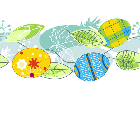 Easter painted eggs seamless pattern Vector