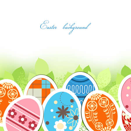 Easter eggs background Stock Vector - 12498026