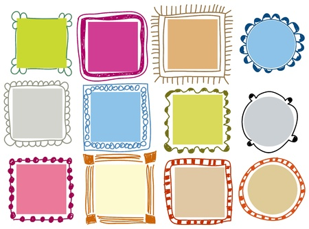 whimsical: Doodle frames Illustration