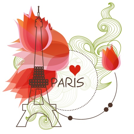 Paris vector background Vector