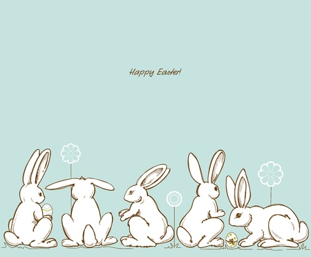 whimsy: Easter rabbits Illustration