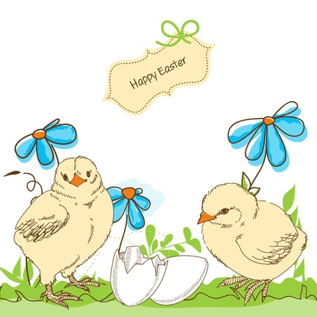 whimsy: Easter chicken Illustration