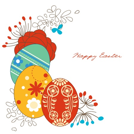Easter eggs corner decoration Vector