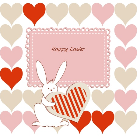 Love Easter card for children Vector