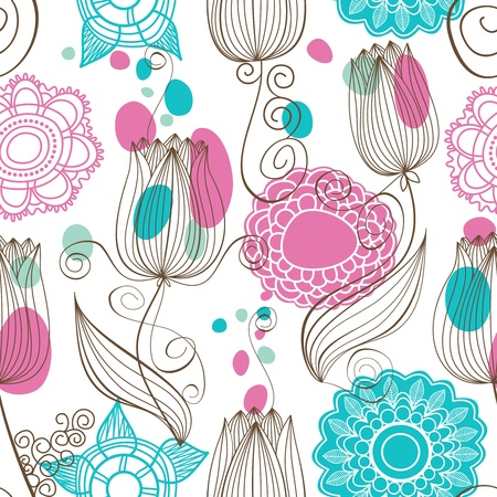 seamless floral pattern: Cute floral seamless pattern