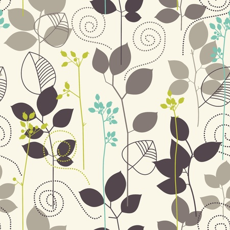 leafy: Retro seamless background Illustration