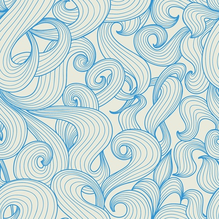 Blue waves pattern Stock Vector - 12955459
