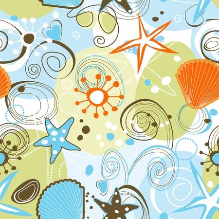 Sea naadloze patroon Vector Illustratie
