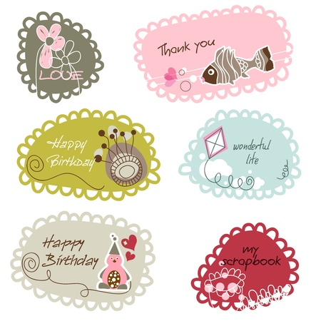 lovely: Cute frames or banners for kids Illustration