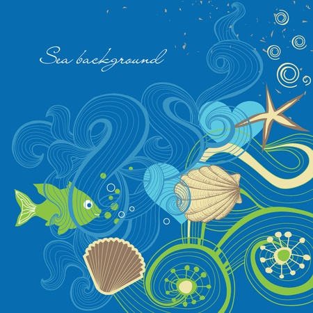 cockle: Sea background Illustration
