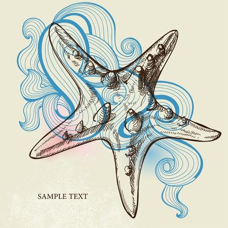 stylize: Starfish achtergrond