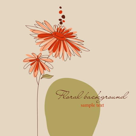Cute flowers greeting card Vector